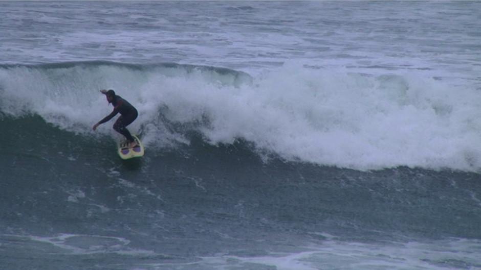 Lafitenia no es una playa muy concurrida y ofrece buenas olas para practicar el surf.