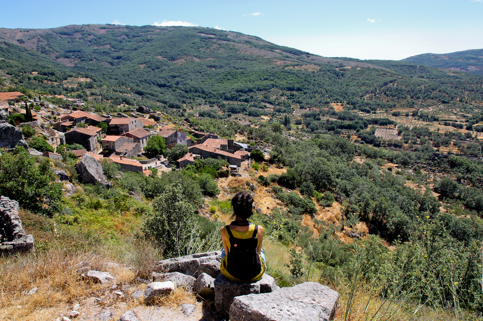Vista panorámica de Trevejo, desde el Castillo.