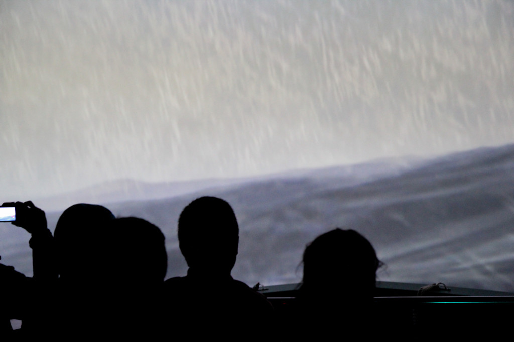 Un momento de la simulación 4D. La verdad es que la sensación de navegación está muy conseguida.