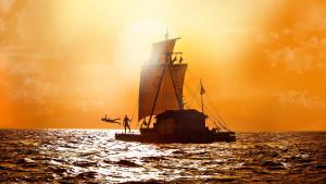 Poster de la película noruega Kon-Tiki, nominada a los oscar
