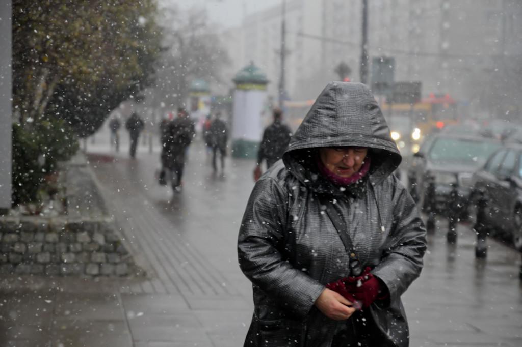 El temporal que nos habían anunciado quedó más que patente a nuestra llegada a varsovia.