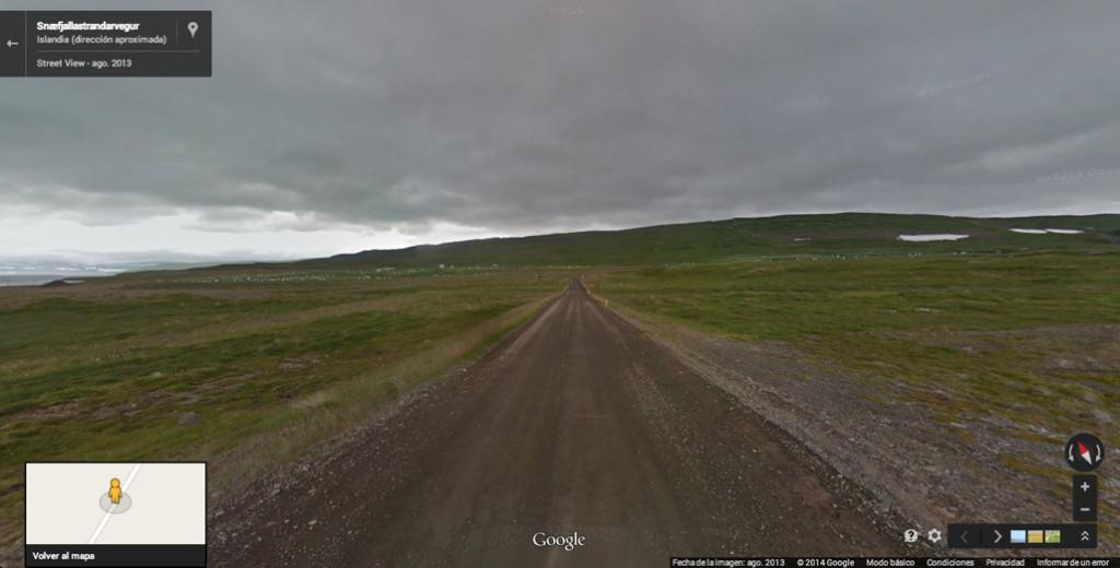 Aquí termina el alcance de Google Street View en nuestra ruta a Æðey | Google Street View