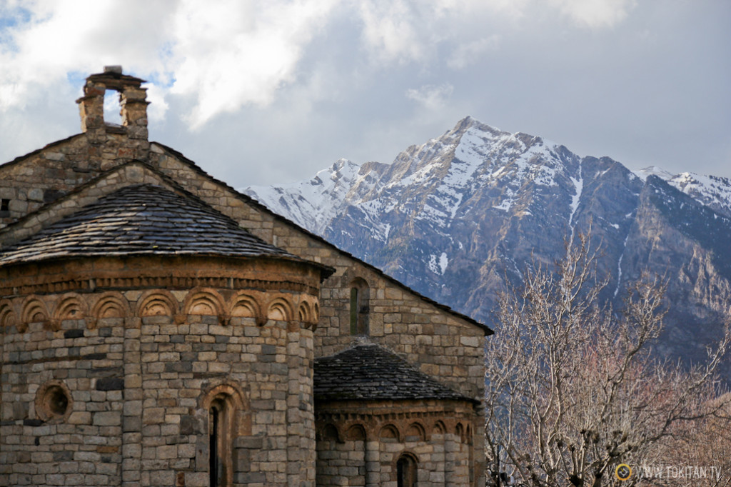 Detalle de la Iglesia de Sanint Climent de Taüll.