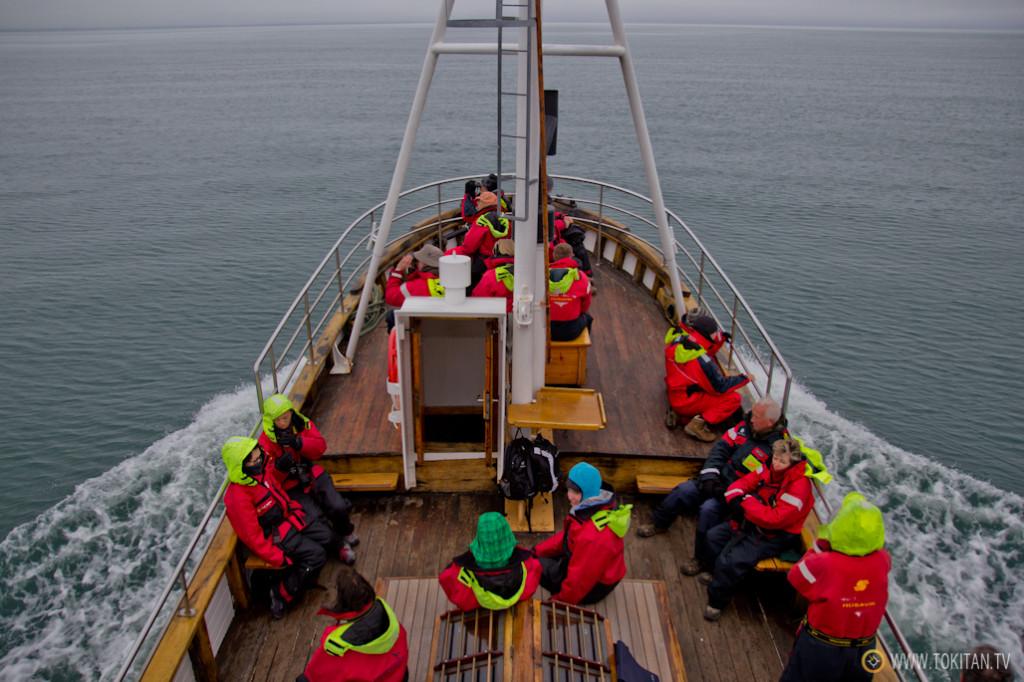 Húsavík es un buen sitio para el avistamiento de ballenas, siembre que la niebla no impida divisarlas.