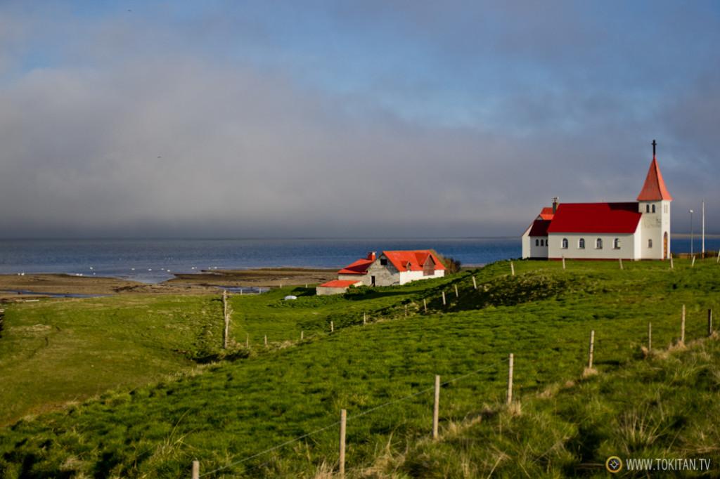 El viaje en coche permite ver muchos paisajes y estampas como esta, en el Noroeste de Islandia (Norðurland Vestra).