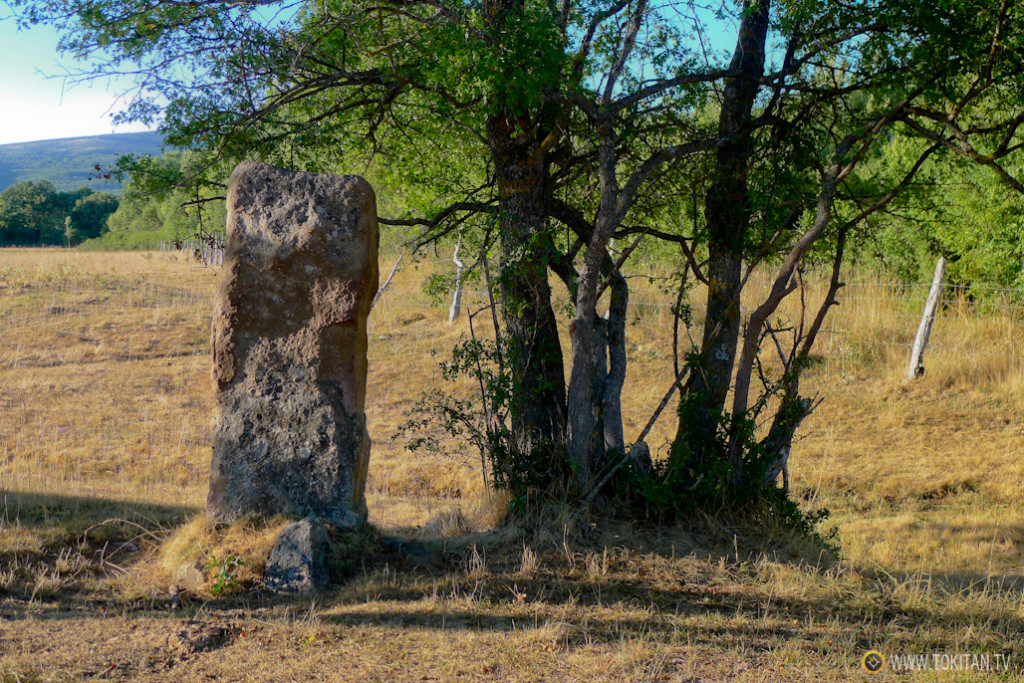 El menhir de Valdeavellano, camino de Villar.