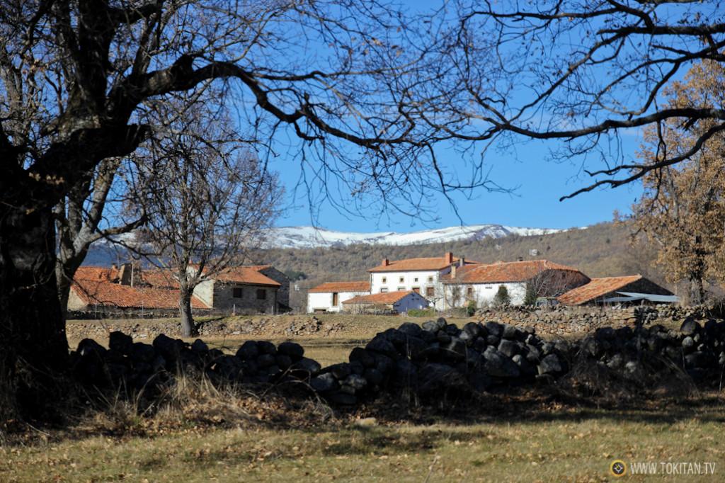 Valdeavellano de Tera y la Sierra Cebollera, nevada, al fondo.