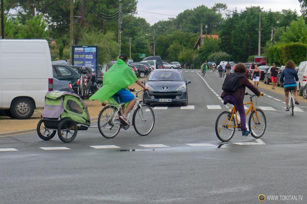 Viajar en bicicleta con niños