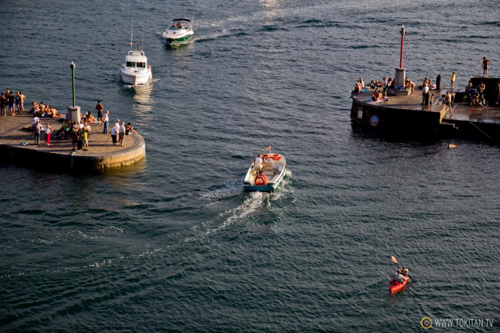 Mareas vivas en el puerto de Donostia