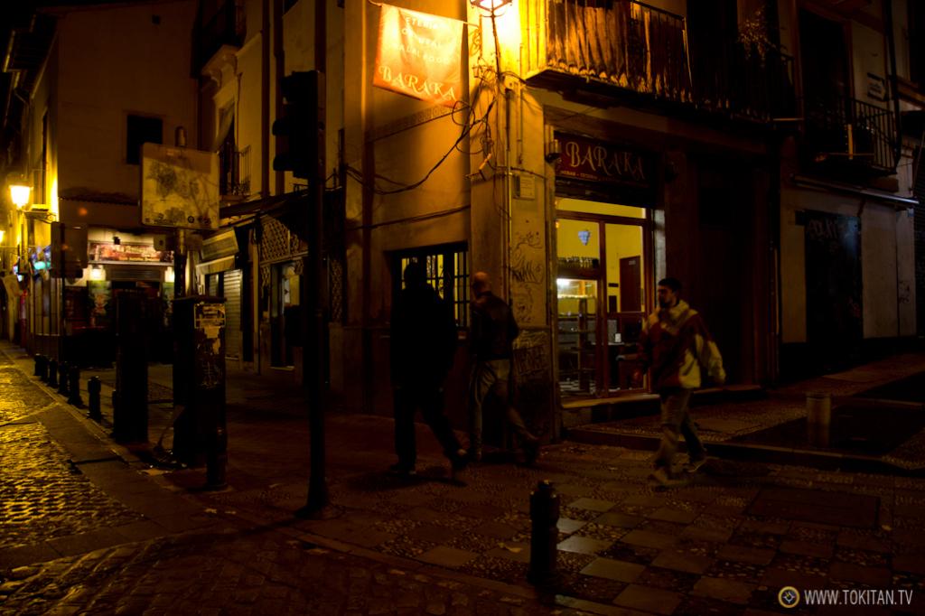 El restaurante Baraka, en una esquina de la Calle Caldereria.