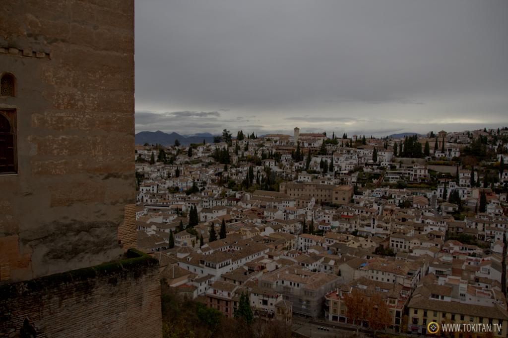 El barrio del Albaicín, visto desde el peinador de la Reina en la Alhambra.