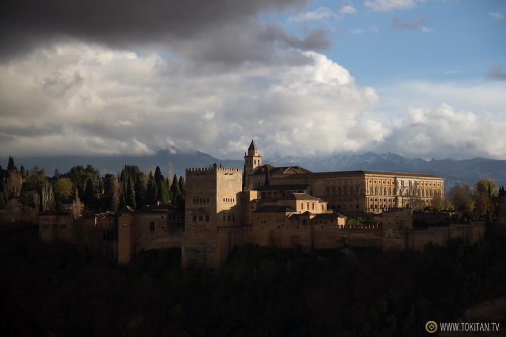 La Alhambra y el palacio de Carlos V.