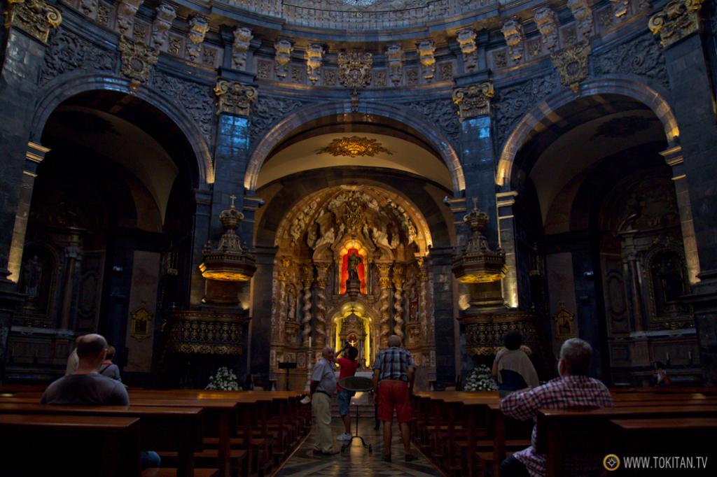 Interior de la basílica del Santuario de Loiola, en la localidad guipuzcoana de Azpeitia.