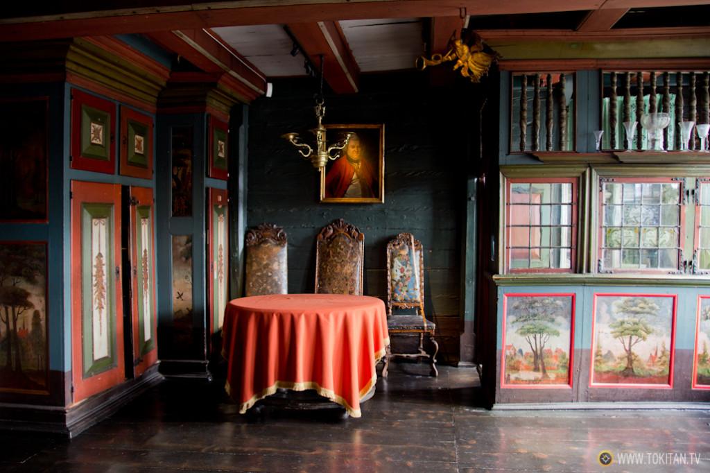 Una de las salas que reproducen la vida de los comerciantes de Bryggen, en el Museo Hanseático de Bergen.