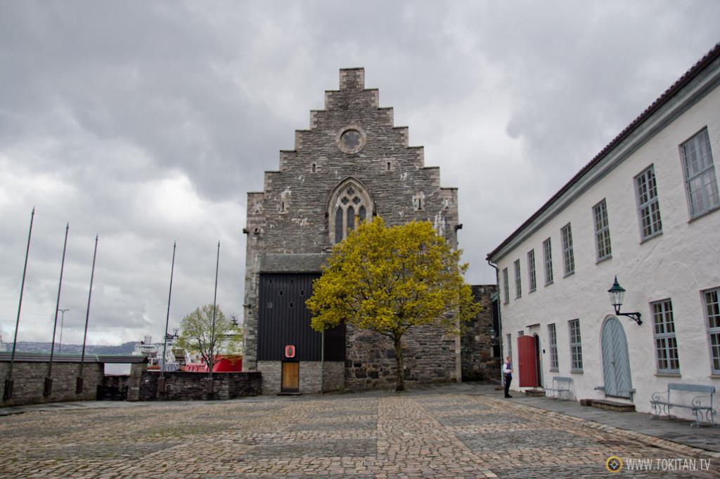 La Fortaleza de Bergen (Bergenhus festing), uno de los castillos mejor conservados de Noruega.