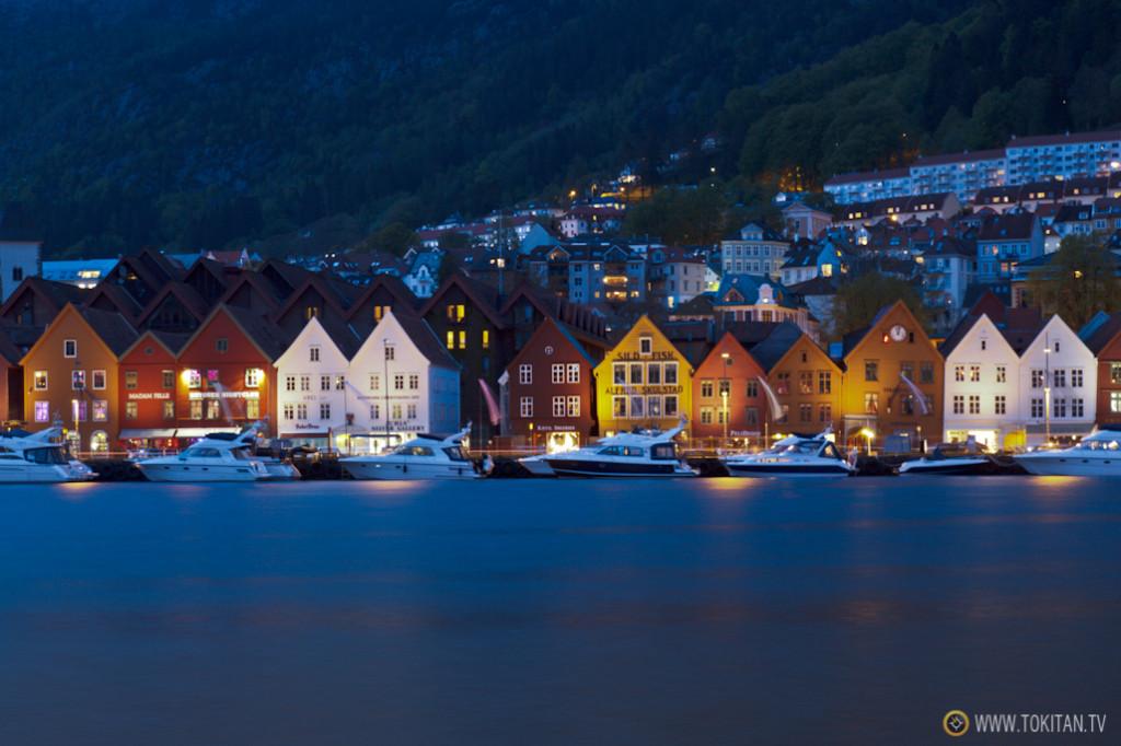 Barrio de Bryggen en Bergen, delegación comercial de la liga hanseática en hasta el siglo XVIII, patrimonio de la humanidad.