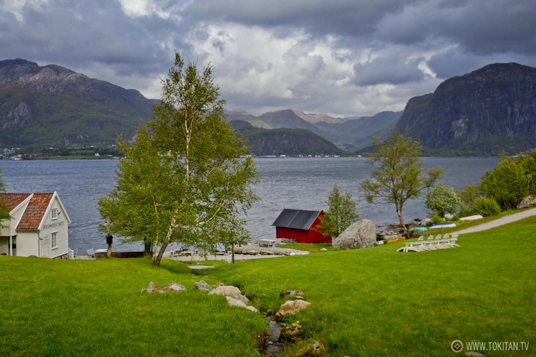 Vista desde Bakernes Paradis, el descanso de los panaderos en los fiordos noruegos.