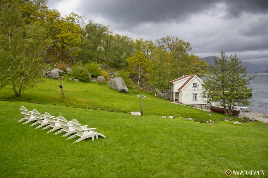 Bakernes Paradis está ubicado en un enclave idílico de los fiordos noruegos.