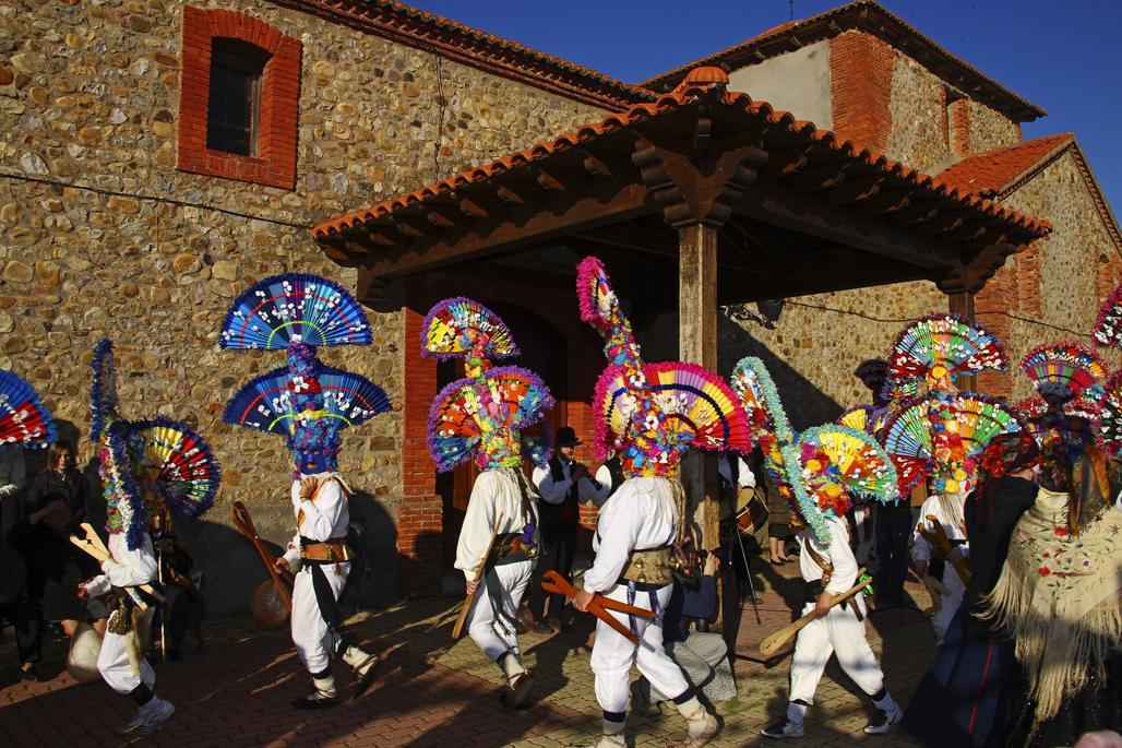 El Antruejo de Llamas de la Ribera, uno de los carnavales tradicionales de León. Foto: Diputación de León http://www.dipuleon.es/
