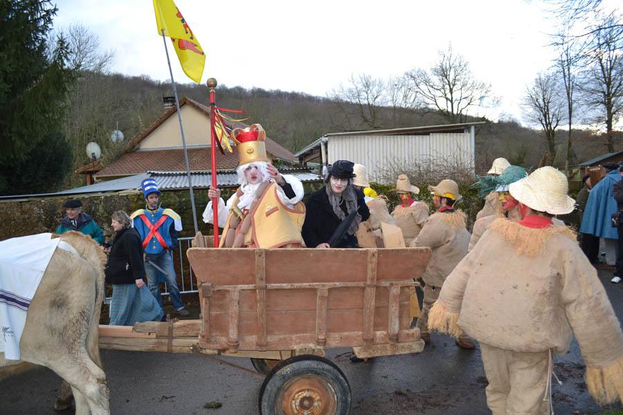 Sent Pançard es llevado a Pau desde el Pirineo bearnés en el carnaval tradicional. cc-by Aure Séguier https://www.flickr.com/photos/paraulasenoc/