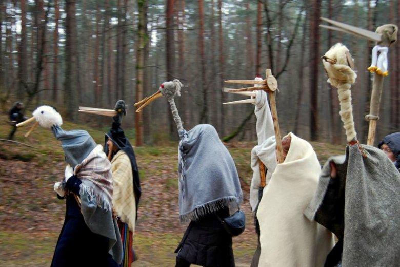 Máscaras tradicionales del Meteni, el carnaval lituano de origen pagano.