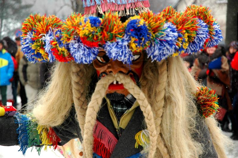 Il carnevale Żywieckie ancestrale Gody Bukowina in Polonia. http://www.silesiakultura.pl/