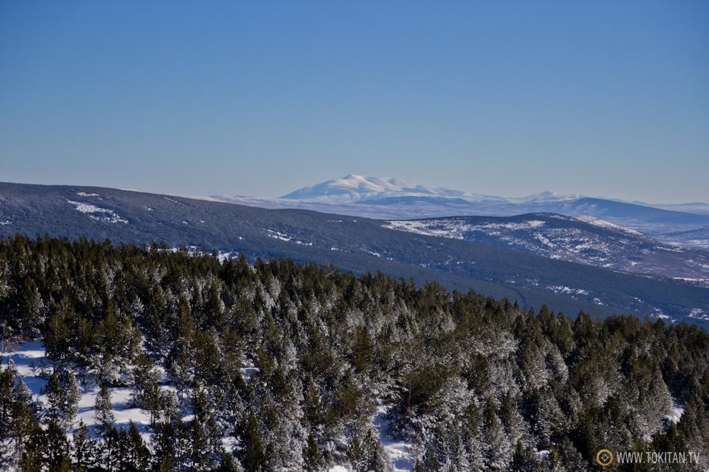 En u día claro, desde Sierra Cebollera se divisa perfectamente el macizo del Moncayo, sobre todo si está nevado.