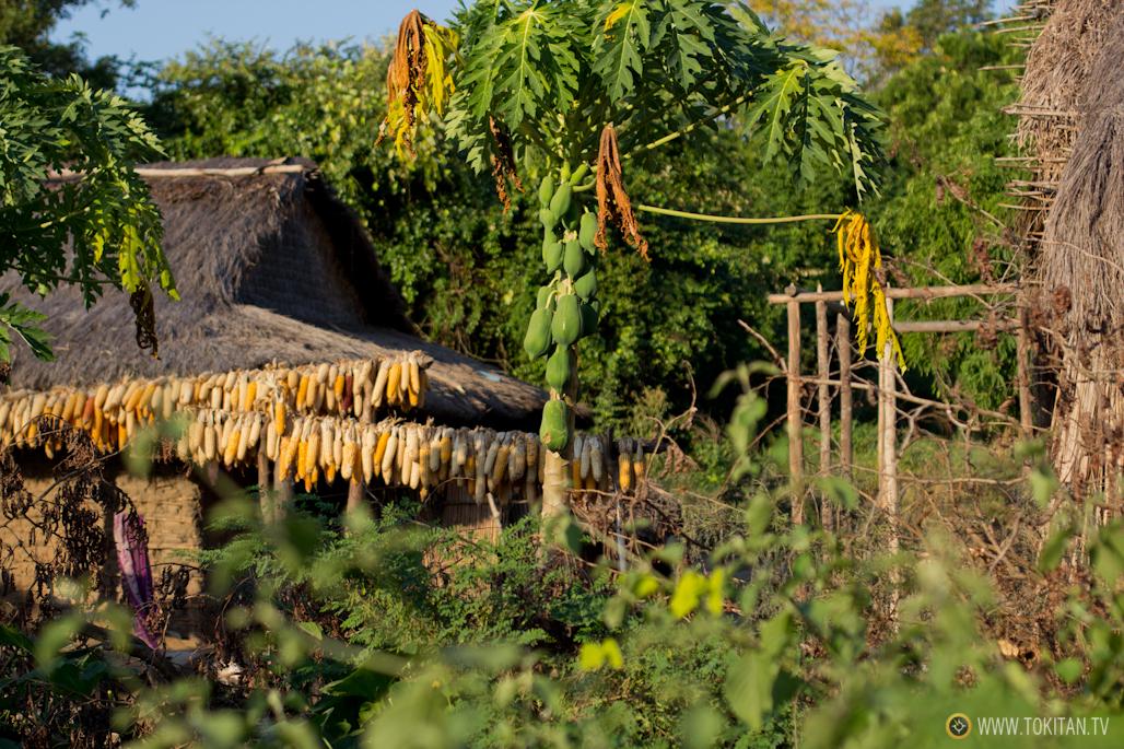 Chabolas poblado Bekopaka.