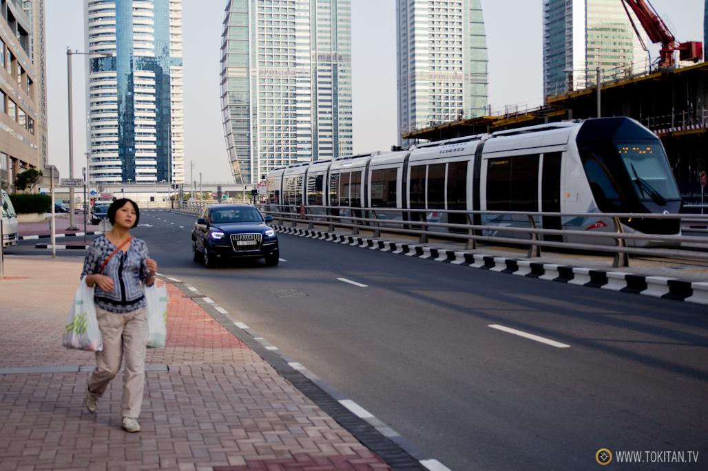 Imagen del tranvía de Dubai.