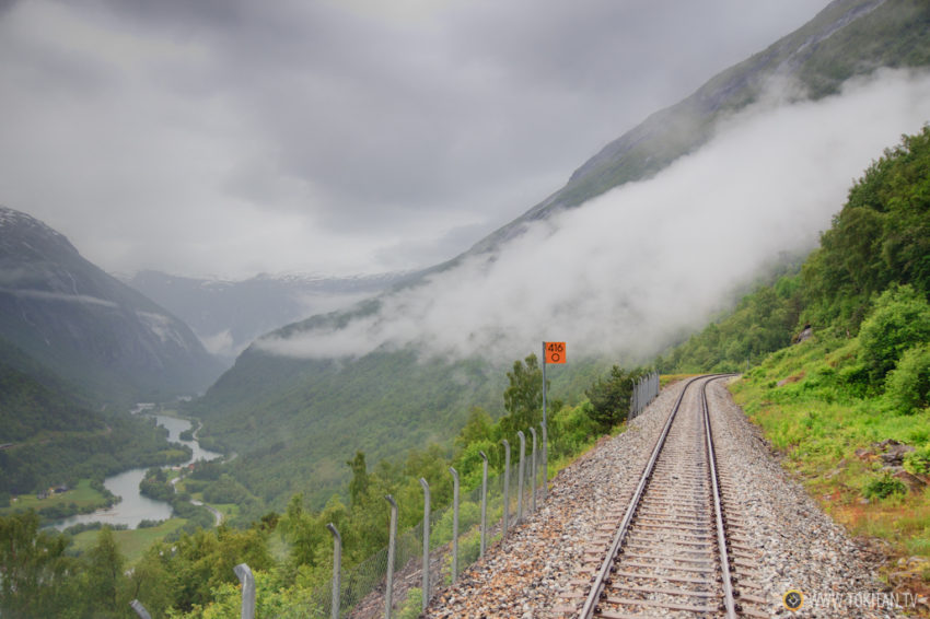 Viajar por Noruega en tren.