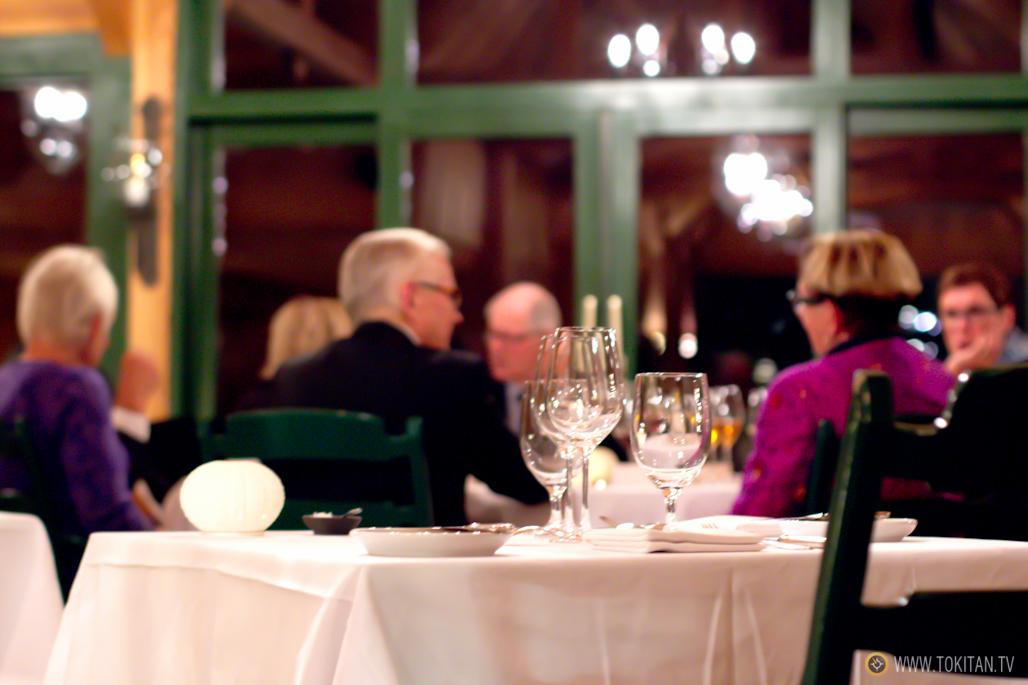 Hora de cenar en el restaurante Engø Gård.