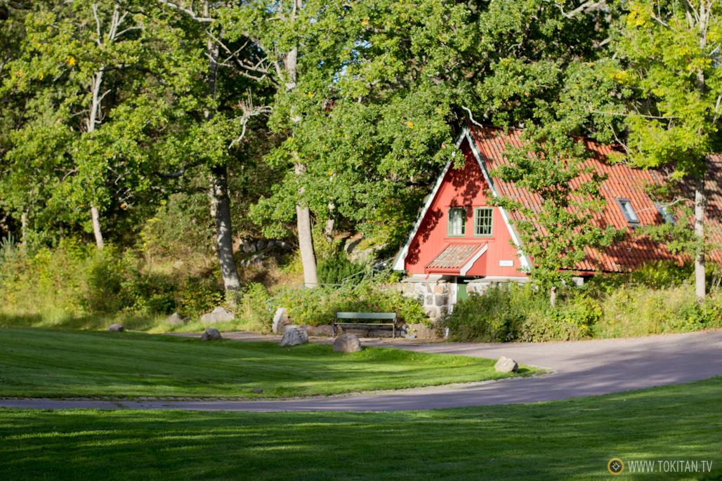 Uno de los edificios del hotel Engø Gård, que forma parte de los alojamientos históricos de Noruega.