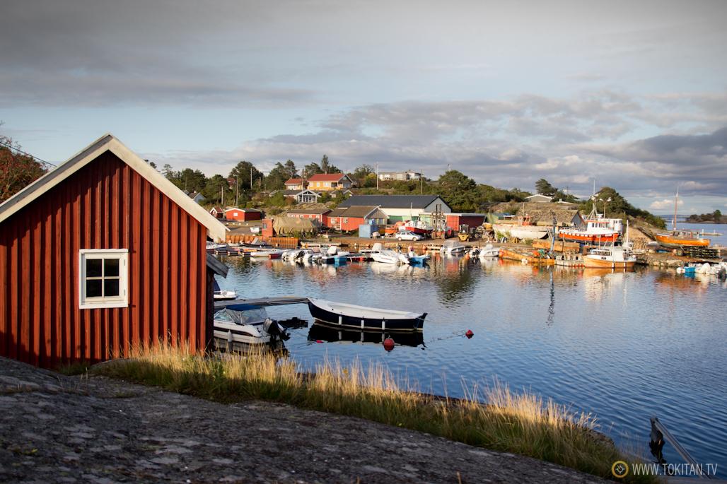 Pequeño puerto noruego en la localidad de Tjome.