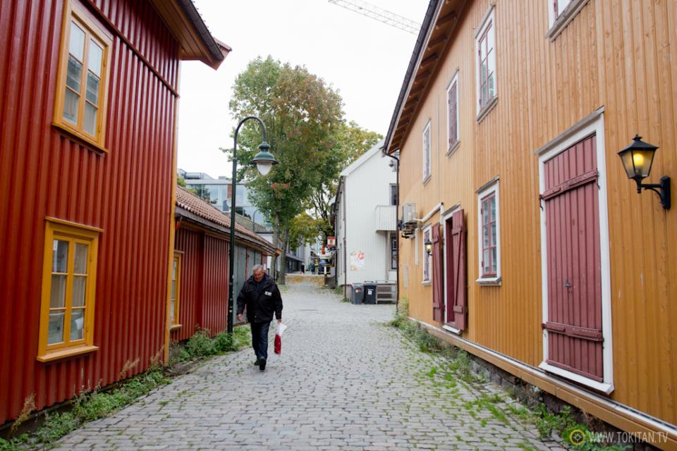 ruta-vikinga-noruega-barco-vikingo-historia-tonsberg-brygge-vestfolfd-casas-colores